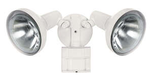 Heath Zenith  Halogen  White  Hardwired  Motion-Sensing  Floodlight  Metal