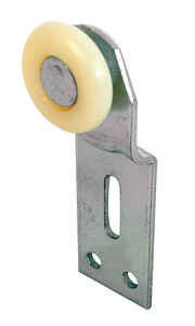 Prime-Line  1 in. Dia. x 1/4 in. L Mill  Plastic/Steel  Wardrobe Door Roller Assembly  2 pk