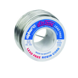 Alpha Fry 8 oz. Lead-Free Rosin Core Solder Wire 0.062 in. Dia. Silver Bearing 1 pc.