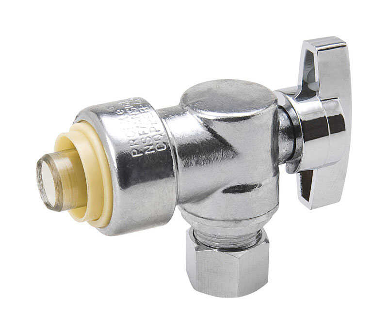 ProLine  Push  Compression  Brass  Angle Valve