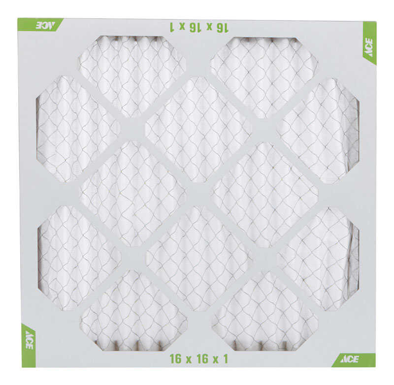 Ace  16 in. W x 16 in. H x 1 in. D Pleated  8 MERV Pleated Air Filter