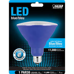 FEIT Electric  7 watts PAR38  LED Bulb  1000 lumens Blue  40 Watt Equivalence Decorative