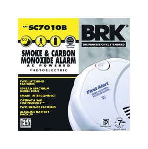 BRK  Hard-Wired w/Battery Back-up  Electrochemical/Photoelectric  Smoke and Carbon Monoxide Detector
