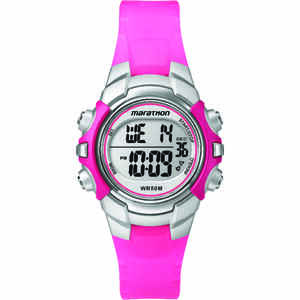 Timex  Marathon  Unisex  Round  Pink  Sports Watch  Digital  Resin  Water Resistant