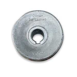 Chicago Die Cast  4 in. Dia. Zinc  Single V Grooved Pulley