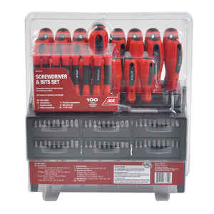 Ace  100 pc. Chrome Vanadium Steel  Screwdriver & Bits Set