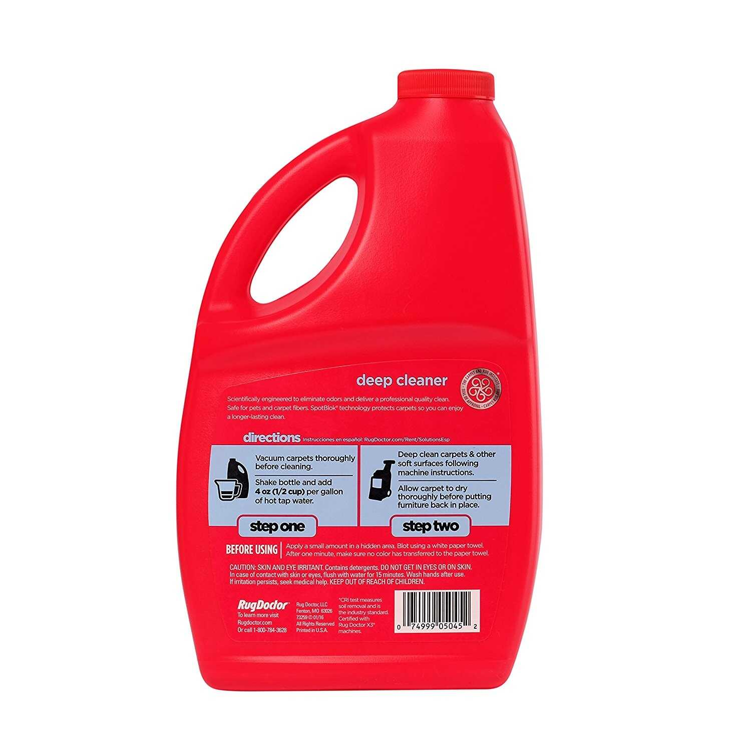 Rug Doctor  Oxy Deep Cleaner  Daybreak Scent Carpet Cleaner  48 oz. Liquid  Concentrated