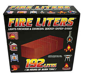 Fire Liters  Wood Fiber  Fire Starter  192 pk