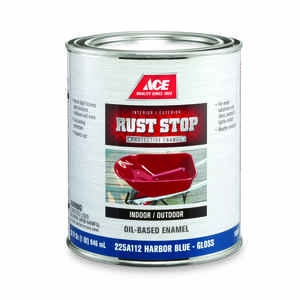 Ace  Rust Stop  Indoor and Outdoor  Gloss  Harbor Blue  Interior/Exterior  Rust Prevention Paint  1