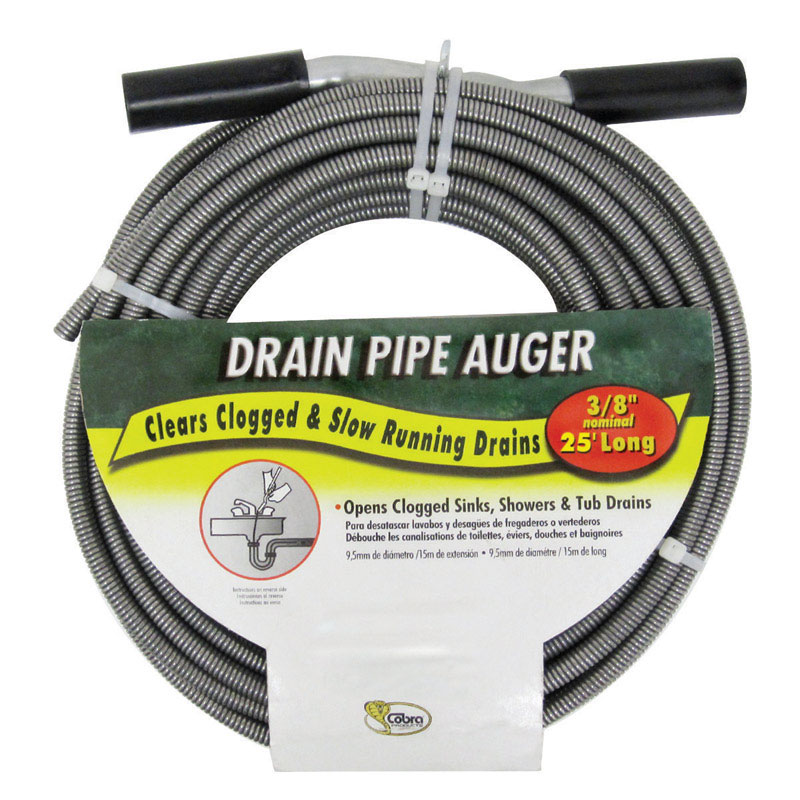 Cobra  3/8 in. Drain Pipe Auger  25 ft.