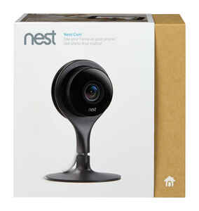 Nest  Indoor Cam  Plug-in  Indoor  Black  Security Camera
