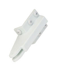 Wright  White  Plastic  Bracket  1 pk