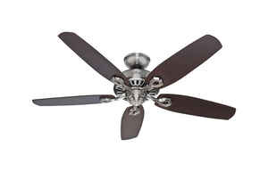 Hunter Fan  Builder Elite  52 in. 5 blade Indoor  Brushed Nickel  Ceiling Fan