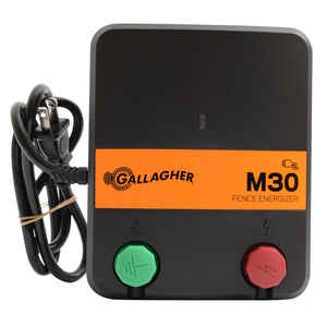 Gallagher  M30  110 volt Electric  Fence Energizer  5 mi. Black/Orange