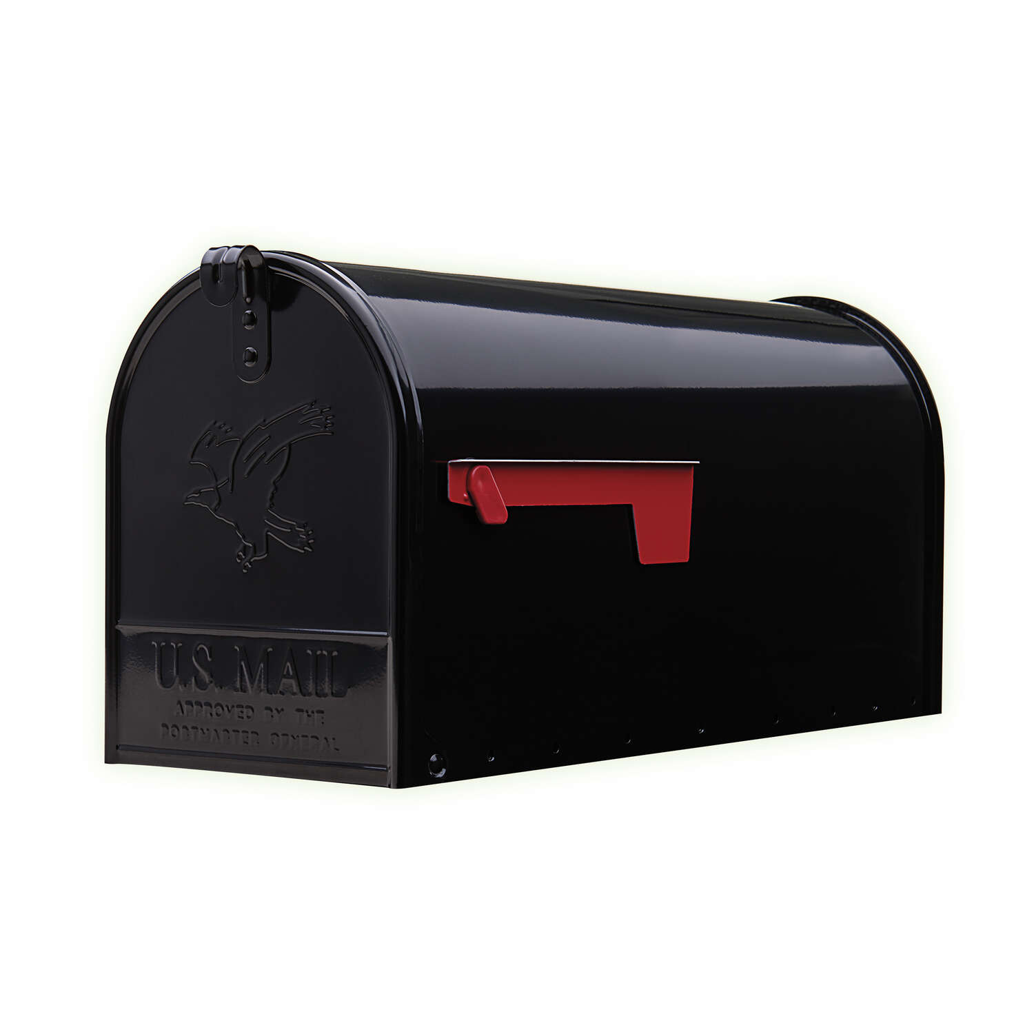 Gibraltar Mailboxes Elite Galvanized Steel Post Mounted Black Mailbox  10-1/2 in. H x 8-1/2 in. - Ace Hardware