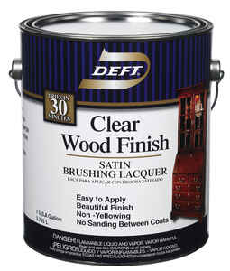Deft  Wood Finish  Satin  Clear  Oil-Based  Brushing Lacquer  1 gal.