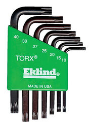 Eklind Tool Torx T10-T40 Short Arm Torx L-Key Set Multi-Size in. 7 pc.