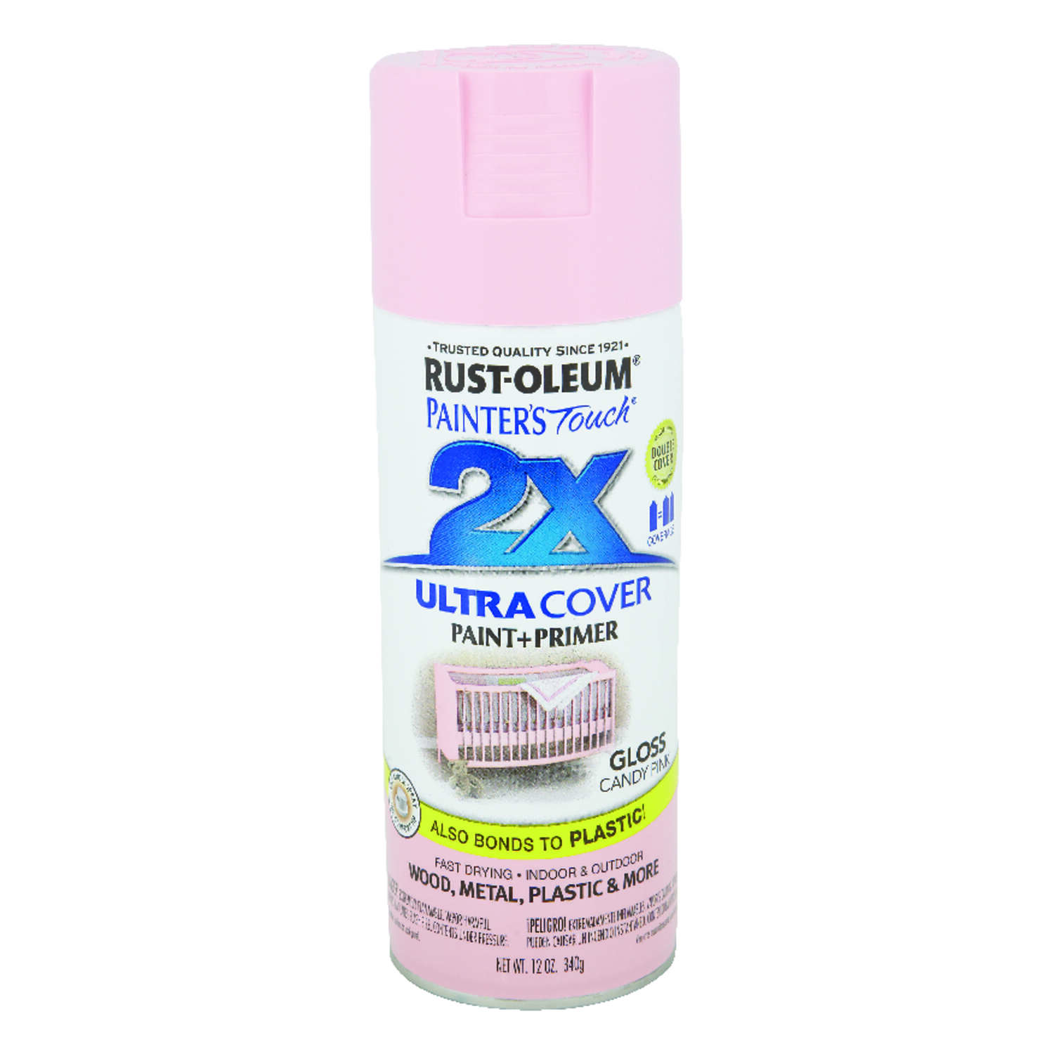 Rust-Oleum  Painter's Touch 2X Ultra Cover  Gloss  Candy Pink  Spray Paint  12 oz.