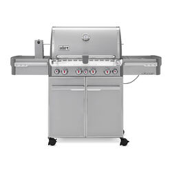 Weber Summit S-470 4 burner Liquid Propane Grill Stainless Steel