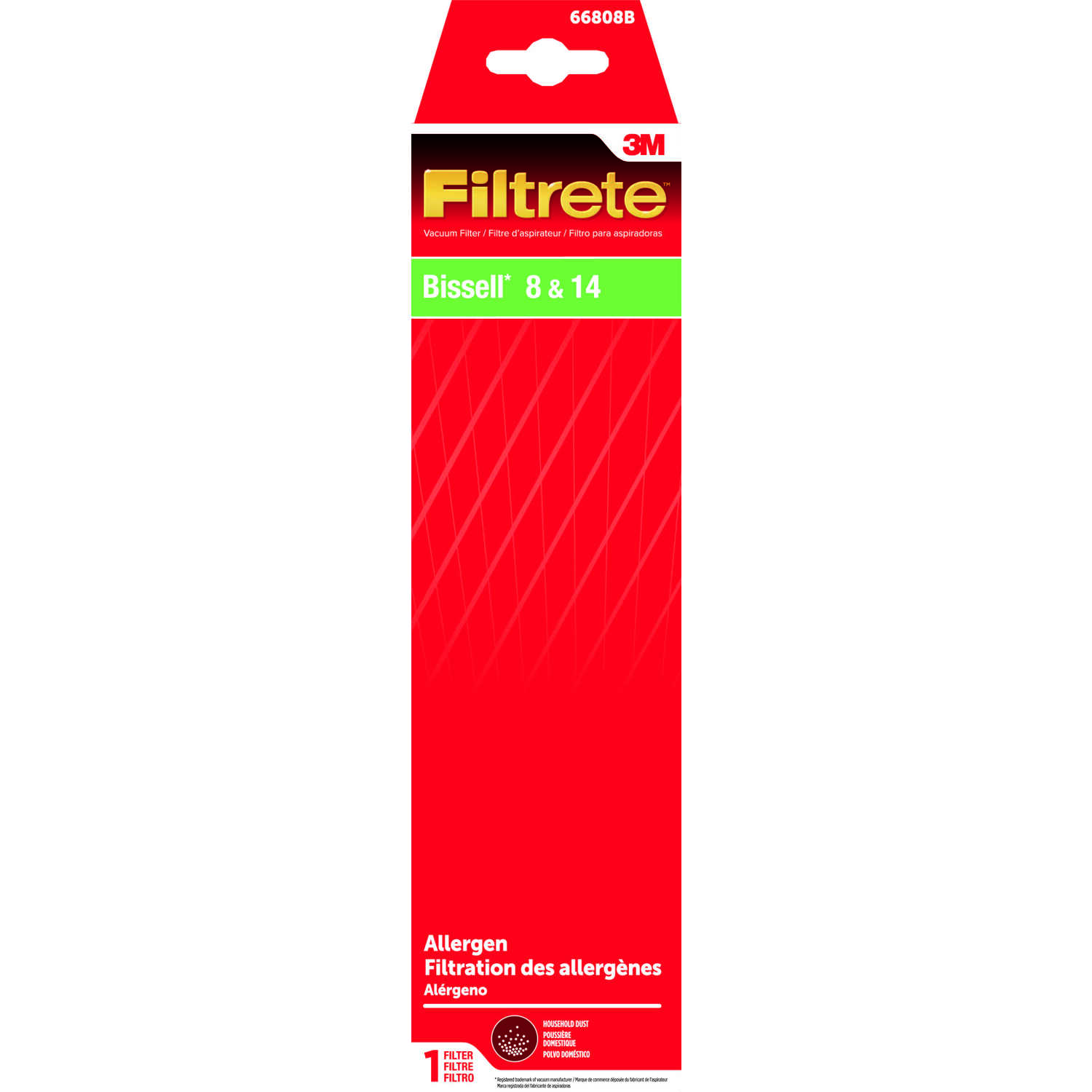 3M  Filtrete  Vacuum Filter  For Bissell Style 8-14 1 pk