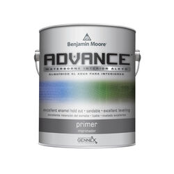Benjamin Moore Advance Waterborne Primer Alkyd Interior White 1 gal. 50 g/l 8 hr.