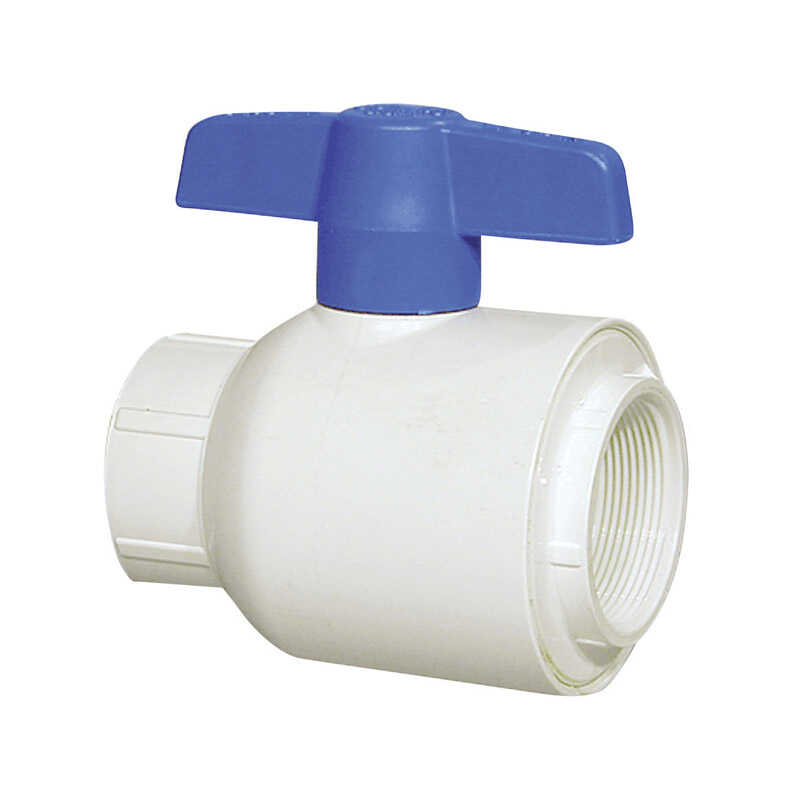 Spears  Ball  Utility Ball Valves  1-1/4 in. FPT   x 1-1/4 in. Dia. FPT  PVC