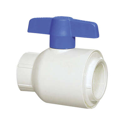 Spears  1-1/4 in. FPT   x 1-1/4 in. Dia. FPT  PVC  Utility Ball Valve