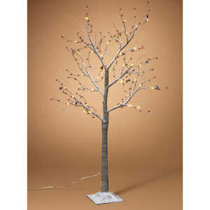 Gerson  Snowy Berry  Christmas Tree  Gray  PVC  1 pk