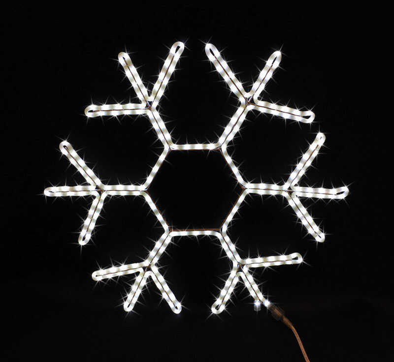 Celebrations  Snowflake  LED Christmas Decoration  White  Plastic  1 pk