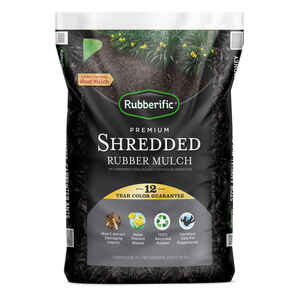 Rubberific  Black  Rubber  Mulch  0.8 cu. ft.