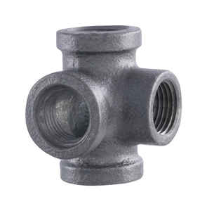 Pipe Decor  1/2 in. FPT  1/2 in. Dia. x 2-3/4 in. L FPT  Black  Malleable Iron  Pipe Decor Outlet Te