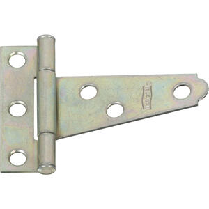 National Hardware  2 in. L Zinc-Plated  Steel  Light T-Hinge  2 pk