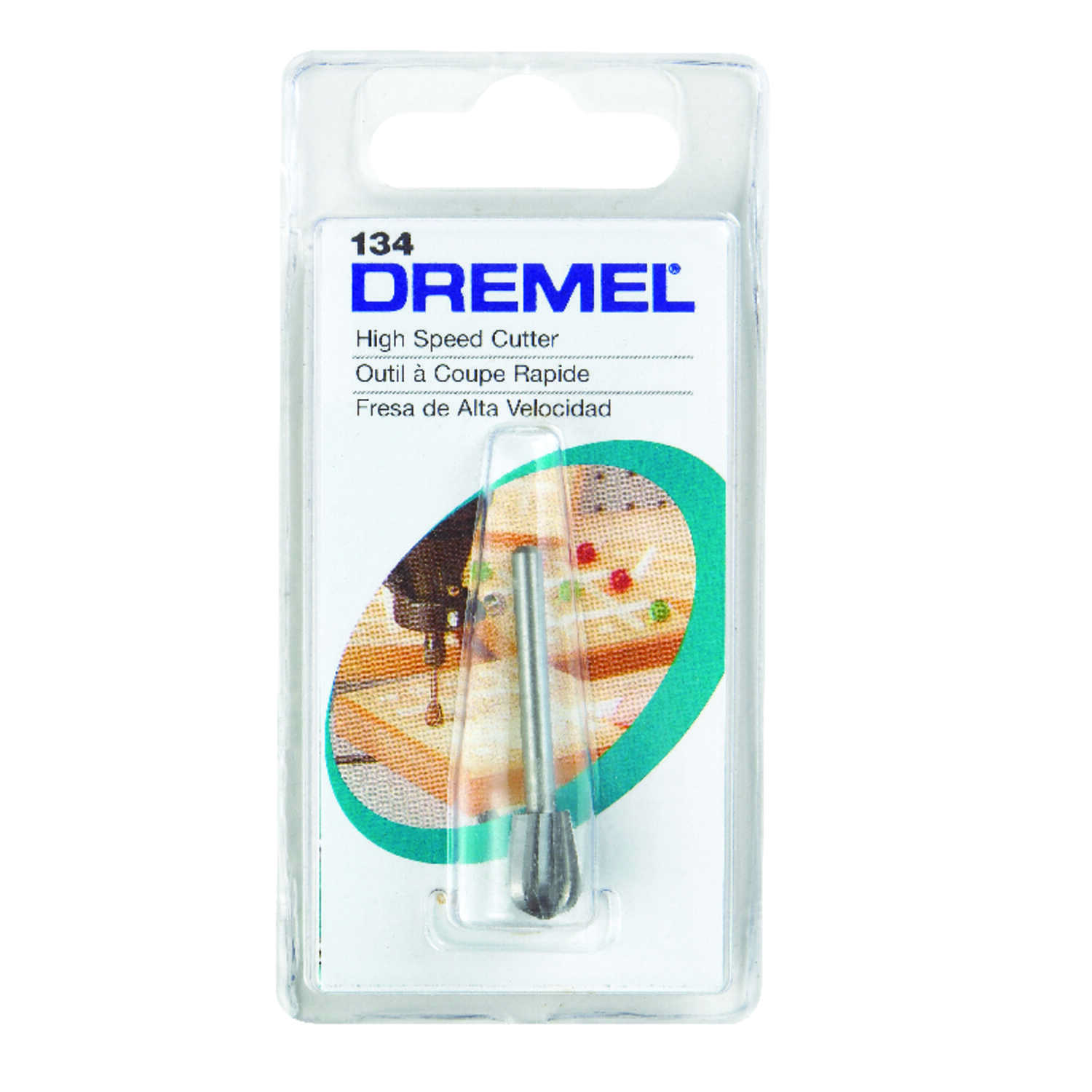 Dremel  5/16 in   x 1.5 in. L x 1/8 in. Dia. Steel  High Speed Cutter  1 pk