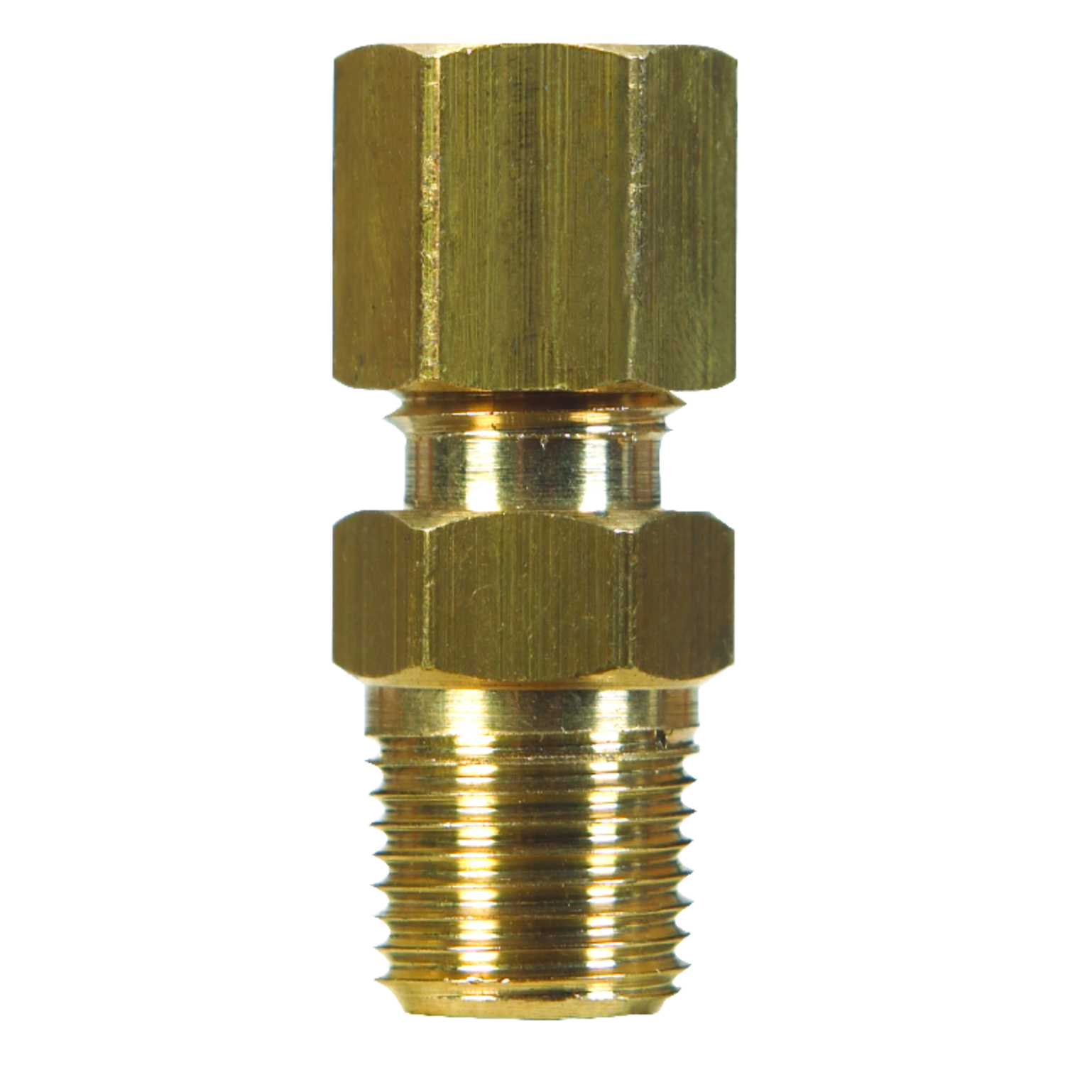 JMF  7/8 in. Dia. x 3/4 in. Dia. Brass  Compression Connector
