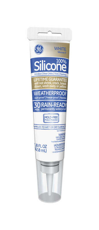 GE  White  Silicone 2  Sealant  2.8 oz.