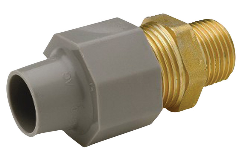 Zurn  Qest  3/8 in. CTS   x 1/2 in. Dia. MPT  Brass/Polyethylene  Pex Coupling Adapter