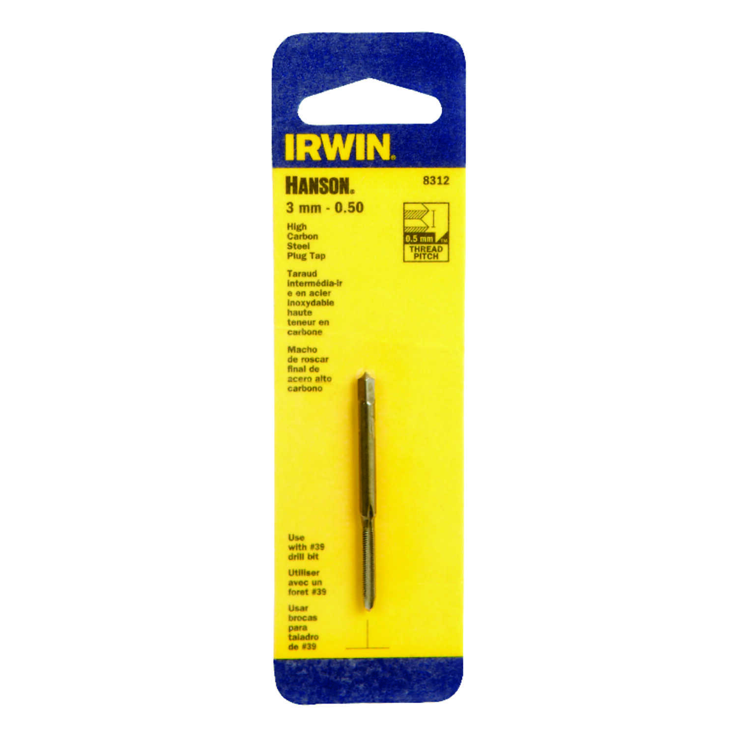 Irwin  Hanson  High Carbon Steel  Metric  Plug Tap  3mm-0.50  1 pc.