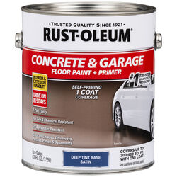Rust-Oleum Concrete & Garage Satin Deep Tint Base Water-Based Acrylic Concrete Floor Paint 1