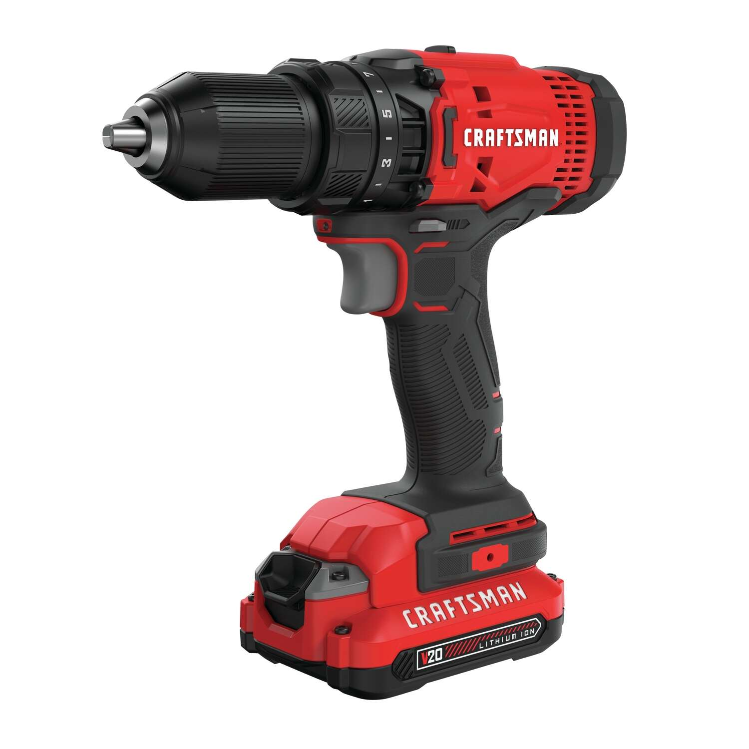 Craftsman 20 V 1/2 in. Brushed Cordless Compact Drill Kit (Battery & Charger)