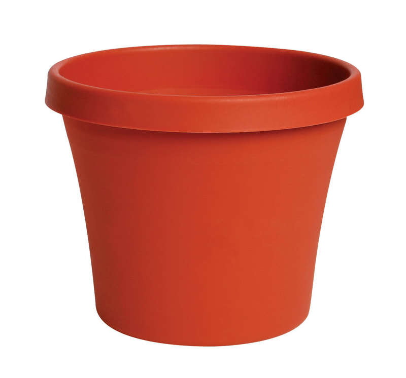 Bloem Terra 10.7 in. H x 12 in. Dia. Resin Traditional Planter Terracotta Clay