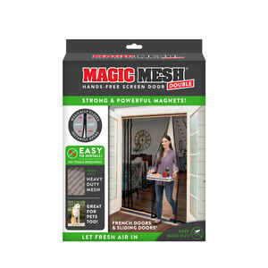 Magic Mesh  As Seen On TV  83 in. H x 75 in. W Black  Mesh  Hands-Free Magnetic Screen Door