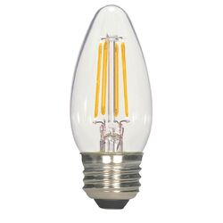 Satco  LED Filament  B11  E26 (Medium)  Filament LED Bulb  Warm White  60 Watt Equivalence 2 pk