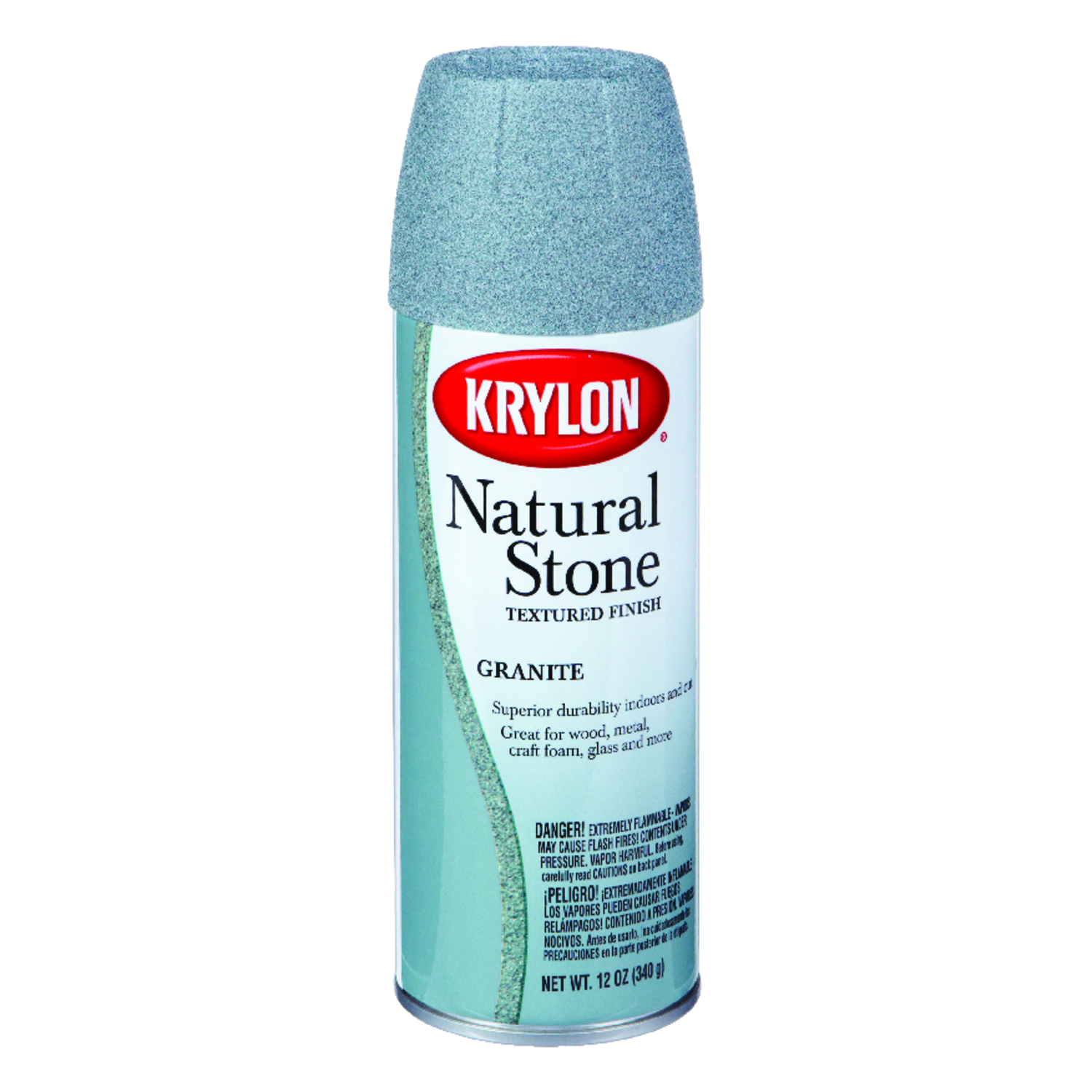 Krylon  Textured  Natural Stone Spray Paint  12 oz. Granite