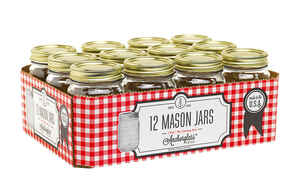 Anchor Hocking  Anchorglass  Regular Mouth  Canning Jar  1  12 pk