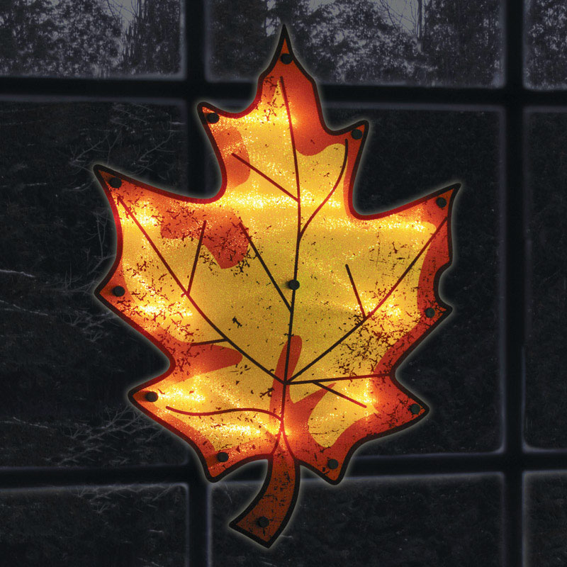 Impact Innovations  Leaf Silhouette  Lighted Fall Decoration  16 in. L