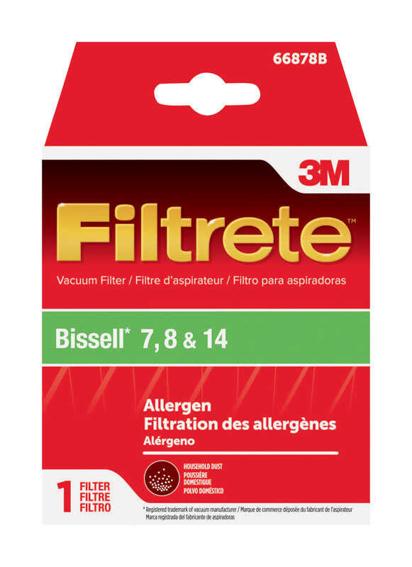 3M  Filtrete  Vacuum Filter  For Bissell 7, 8, 14 1 pk