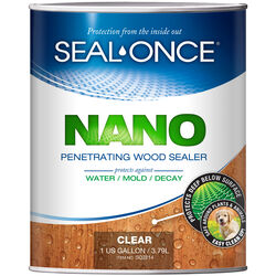 Seal-Once  Nano  Flat  Clear  Water-Based  Premium Wood Sealer  1 gal.