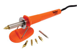 Weller  Corded  Wood Burning Iron Kit  25 watt Orange  1 pk