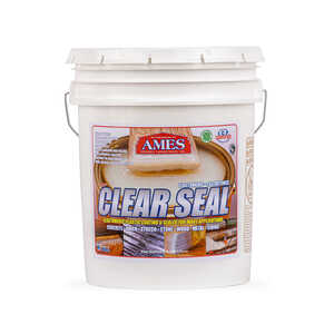 Ames Research Laboratories Inc.  Clear Seal  Semi-Gloss  Clear  Water-Based  Waterproof Sealer  5 ga