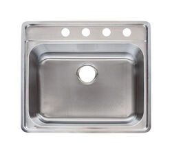 Franke  Stainless Steel  Top Mount  25-1/2 in. W x 22-1/2 in. L Single Bowl  Kitchen Sink